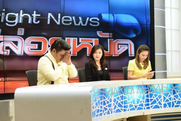 余宏在節目上道歉。(圖擷取自微博)