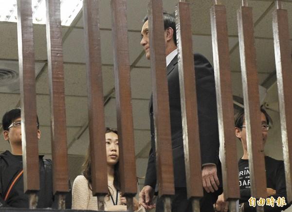 前總統馬英九因洩密案遭台北地檢署起訴。(資料照,記者陳志曲攝)
