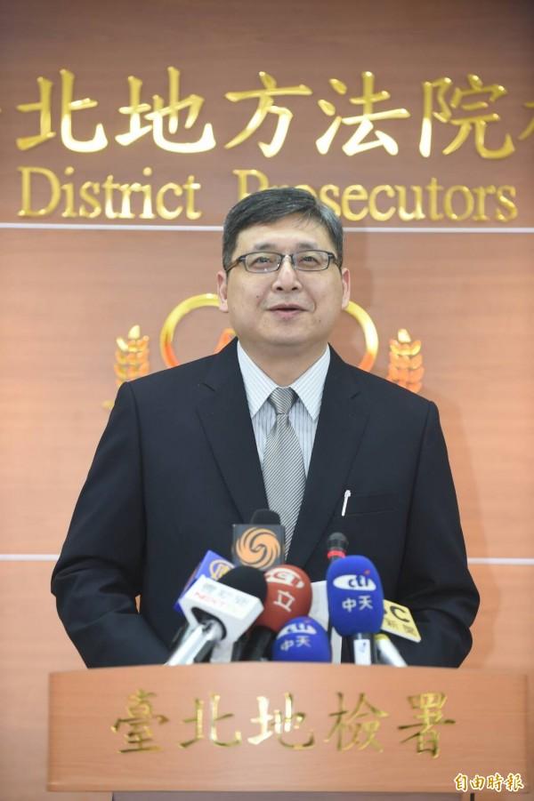 北檢發言人周士榆今召開偵結記者會,說明偵查結果。(記者劉信德攝)