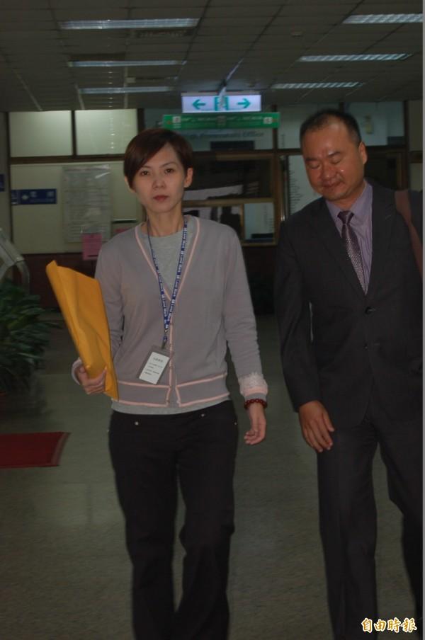 林益世妻子彭愛佳昨淚灑高院請求解除限制出境,高院今裁定駁回。(記者楊國文攝)