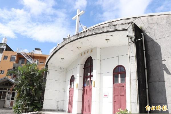 礁溪天主堂於民國52年興建,明日文化局的文化資產審議委員會,也將決議是否登錄為指定古蹟。(記者林敬倫攝)
