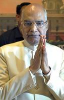印度將於17日舉行總統大選該黨提名的候選人賤民柯文德(Ram Nath Kovind)可望勝出。(法新社)