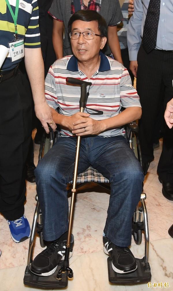 台中監獄同意正保外就醫的前總統陳水扁北上出席凱達格蘭餐會,但須遵守不進入會場、不上台、不演講等原則。(資料照,記者廖振輝攝)