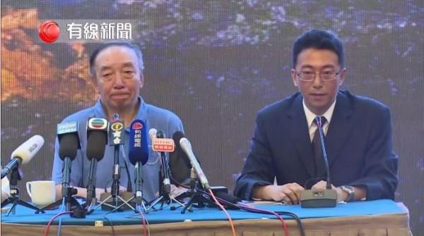中國官方舉行劉曉波後事記者會,由劉曉波兄長劉曉光代表發言。(圖片擷取自「有線中國組」臉書)