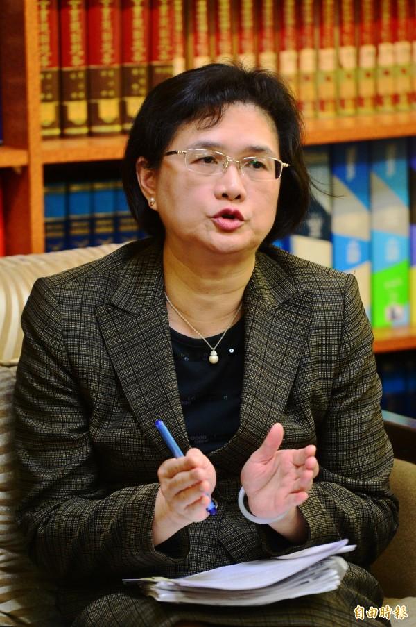 針對美國國務卿提名人提勒森重申對台的「台灣關係法」與「六項保證」承諾,外交部今表示,外交部對此表示歡迎及感謝。圖為外交部發言人王珮玲。(資料照,記者王藝菘攝)