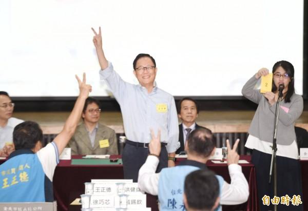 國民黨台北市長候選人丁守中。(記者方賓照攝)