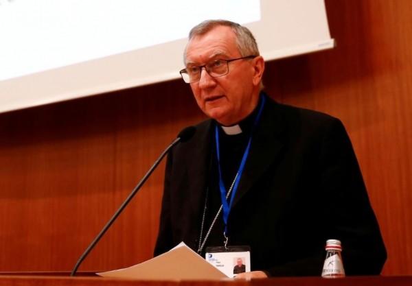 教廷國務院長帕洛林(Pietro Parolin)。(路透)