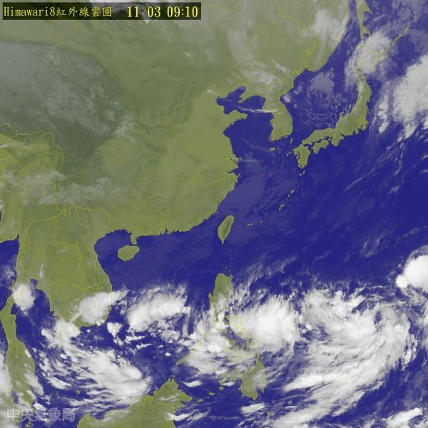原先在關島西方海面的熱帶性低氣壓,已於今天上午增強為今年第23號颱風「米雷」。(擷自中央氣象局網站)