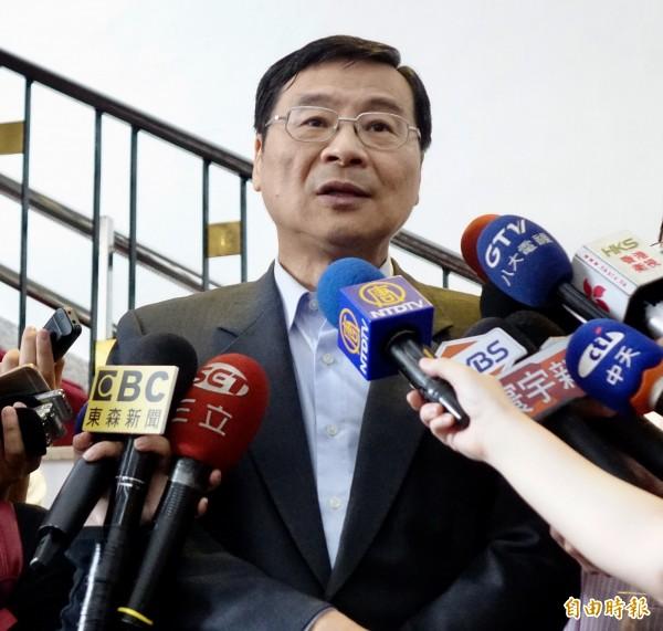 立法院19日朝野協商,國民黨立委曾銘宗出席。(記者簡榮豐攝)