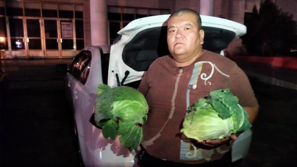 雲林二崙的菜農大部分都不認識「髮蠟哥」何將財,也不知道髮蠟哥的租地在何處,且痛批髮蠟哥向韓國瑜下跪陳情,反讓菜價崩盤。(資料照)