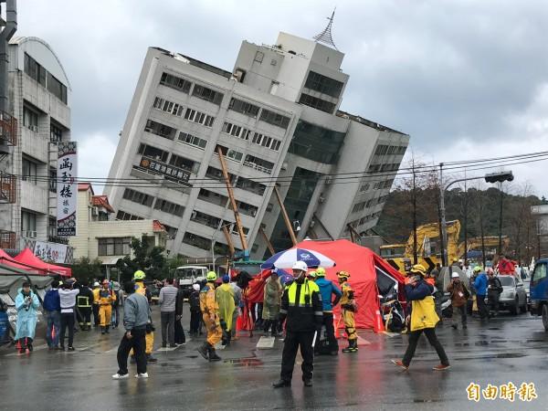 花蓮震災,重建戶恐超過300戶。63國與歐盟等國際組織慰問花蓮震災。(資料照)