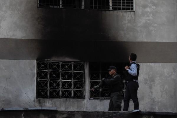 警方正針對爆炸現場調查。(法新社)