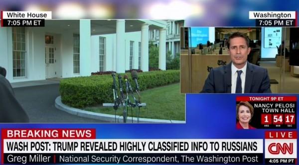華郵國安記者米勒連線CNN,直言否認川普洩密的白宮在玩文字遊戲。(圖擷自推特)