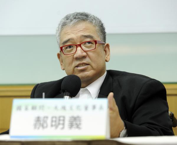 總統府國策顧問郝明義。(記者叢昌瑾攝)