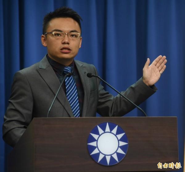 國民黨發言人洪孟楷痛批,3基金會是獨立的運作法人,如今蔡政府在軍人年改民調低落之際,認定為國民黨附隨組織,是為了轉移焦點,是最廉價的政治操作。(資料照)