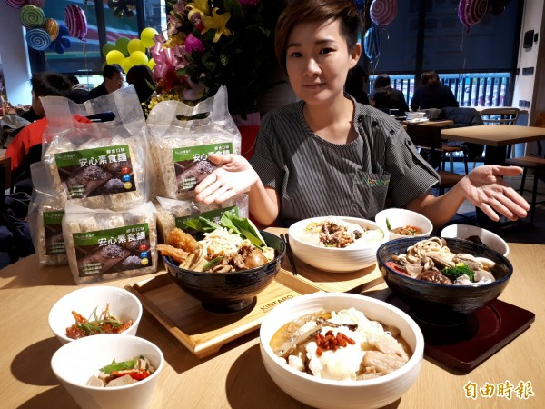 新竹市「禮面作」創意麵食館,幾乎是麵麵俱到。(記者洪美秀攝)