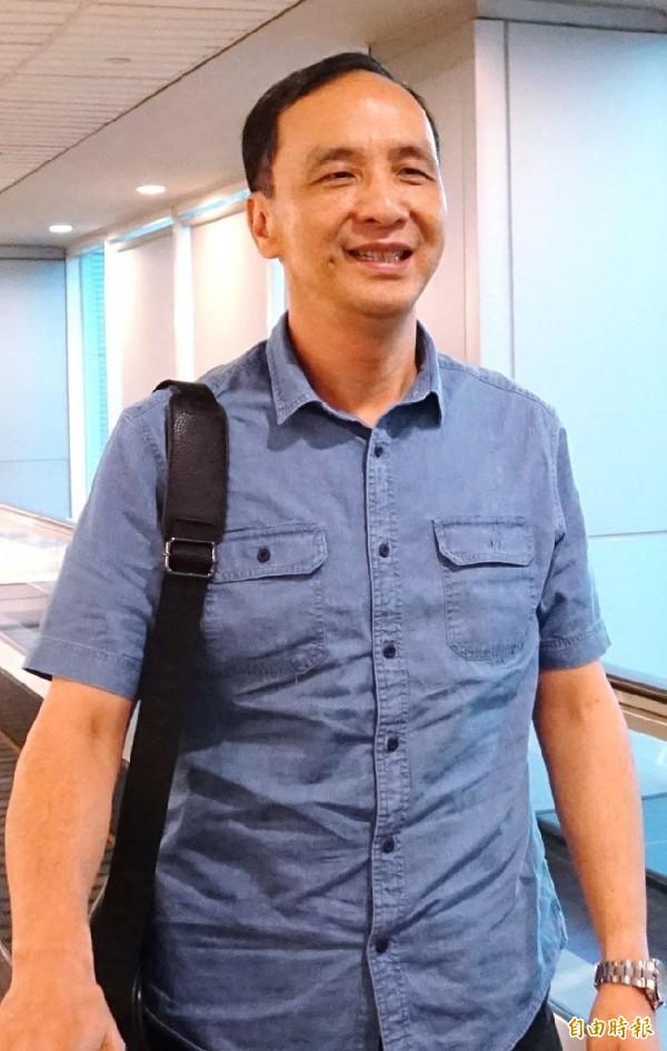 針對颱風假放假問題,朱立倫指出若是下次再有類似狀況,「新北市府的決定不會改變」。(資料照)