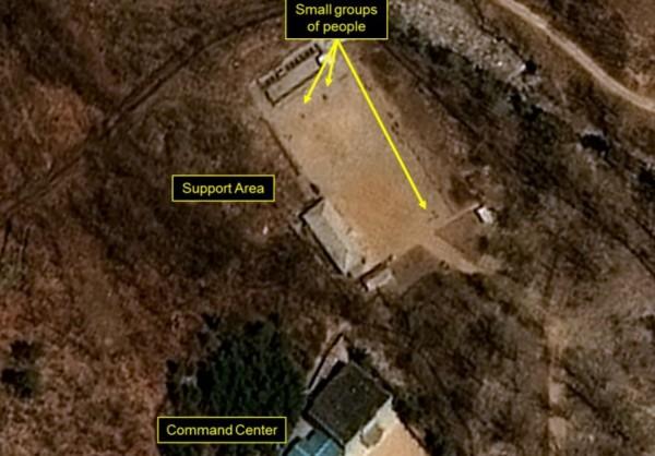 有外媒報導指出,一名監測北韓的專家在分析人造衞星圖片後,竟發現北韓豐溪里核試場的工作人員在打排球比賽。圖與新聞事件無關。(圖擷取自38 North)