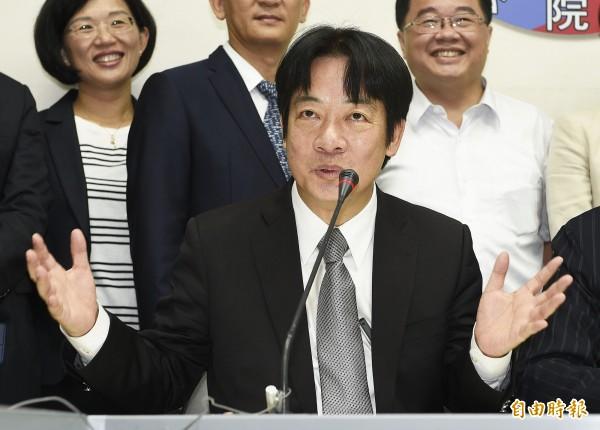 行政院長賴清德拍板,明年軍公教加薪3%(資料照,記者陳志曲攝)