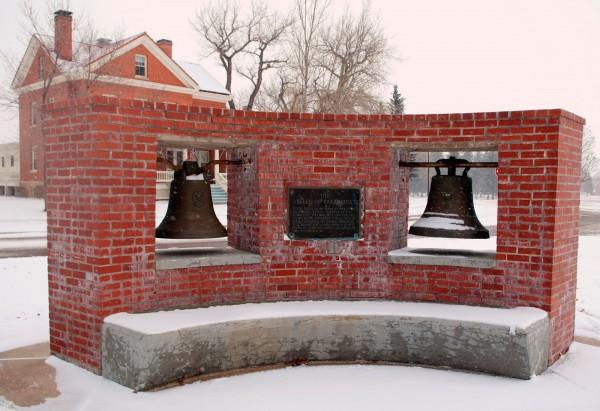 杜特蒂口中的教堂鐘目前仍在美國展示。(路透)