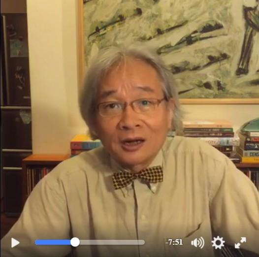 馮光遠今晚在臉書直播,宣布退出時代力量。(畫面擷自馮光遠臉書)
