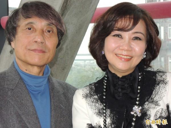建築設計大師安藤忠雄(左)希望在阿里山興建的「山之教堂」能夠停止仇恨,重新找到愛。(資料照,記者陳品竹攝)