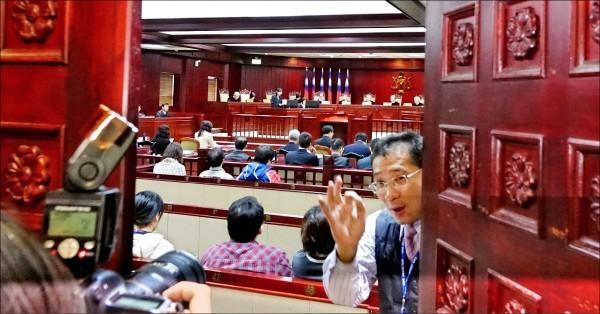 全國司法改革國是會議第二組第三次會議,昨天做出重大決議。憲法法庭開庭狀況。(資料照)