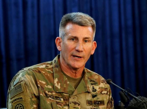 美軍駐阿富汗指揮官尼克森將軍表示,在上周發動的空襲中,炸死了IS首領拉曼等多名高階成員。(路透)