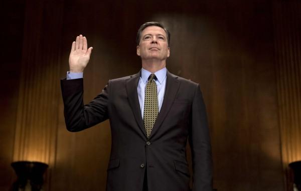 前FBI局長柯米同意赴國會作證。(法新社)