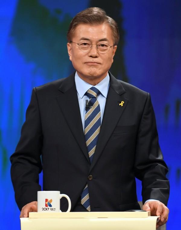 南韓共同民主黨候選人文在寅。(路透)