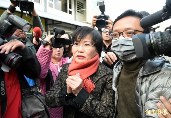 民進黨立委劉世芳昨天下午召開記者會宣布退出民進黨高雄市長初選。(資料照,記者張忠義攝)
