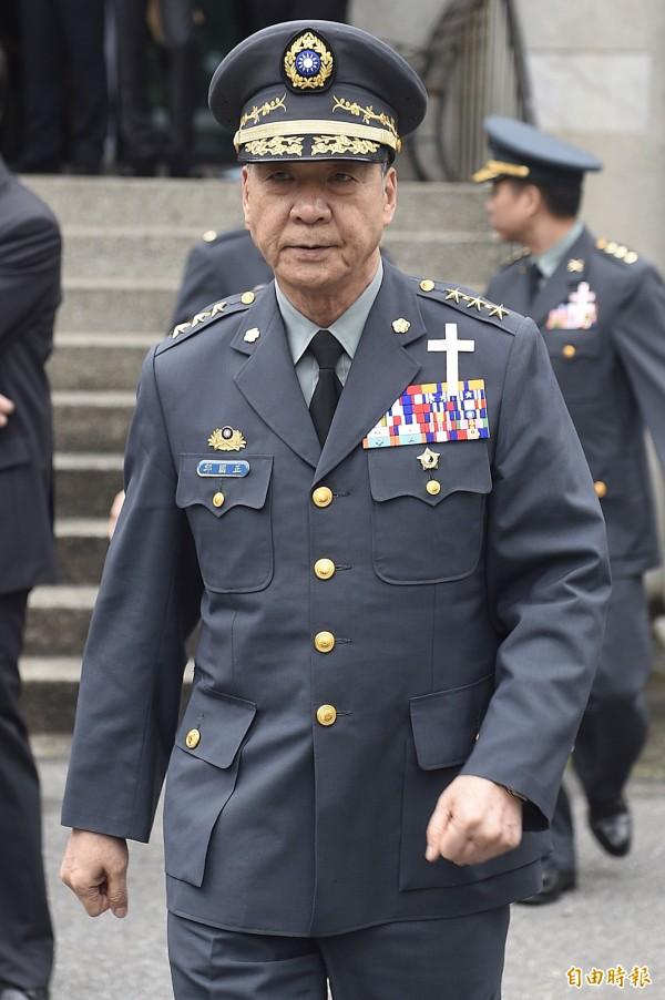 國軍現任參謀總長嚴德發將於12月屆齡退伍,新任總長將由陸軍司令邱國正(見圖)接任。(資料照,記者陳志曲攝)