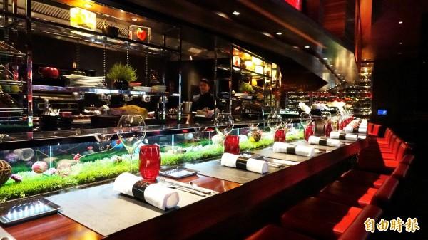 侯布雄法式餐廳獲米其林一星餐廳認證。(資料照)