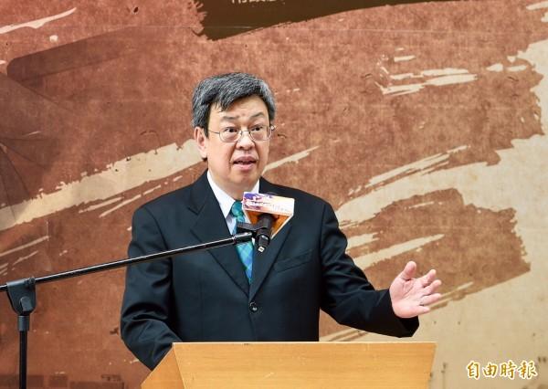 從小聽台北高校的校歌長大,副總統陳建仁致詞時當場哼了一段校歌,致詞時也推崇台北高校畢業生在政界等各領域都有重要的貢獻。(記者羅沛德攝)