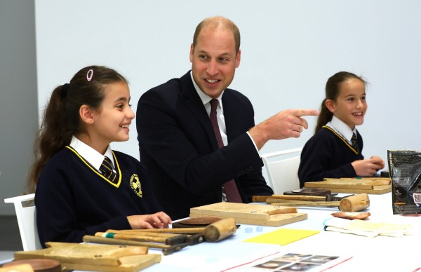 威廉王子13日出席位於倫敦肯辛頓的日本文化會館開幕儀式時,卻誤將「日本料理」說成「中國菜」。(路透資料照)