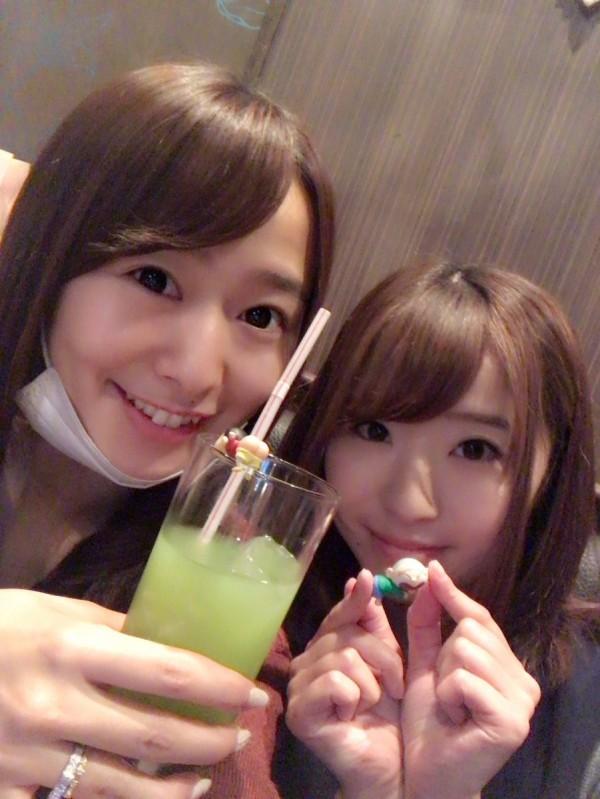 白石茉莉奈(左)、初美沙希(右)。(圖擷取自推特)
