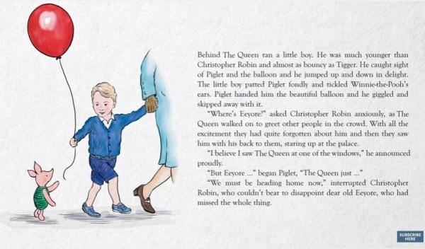 另外,小豬還把紅色汽球送給了喬治小王子,場面十分溫馨。(圖擷取自YouTube)