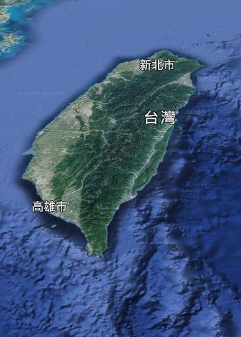 台灣被指與國外一島嶼形狀相近。(擷自Google map)