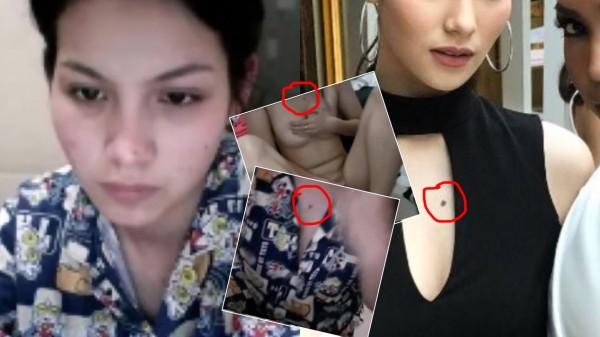 網路瘋傳的自慰影片女主角胸前的痣,竟與茱莉胸前痣的位置一樣,因此網友懷疑就是她。(圖擷自「tvpoolonline」)