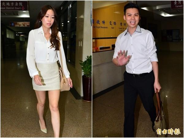 周品均(左圖)向台北地院對丈夫鄭景太(右圖)等人提告,欲討回東京著衣437萬8680股份。(資料照,記者王藝菘攝)