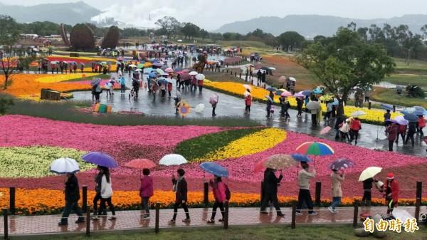 台中國際花毯節落幕。(資料照,記者李忠憲攝)
