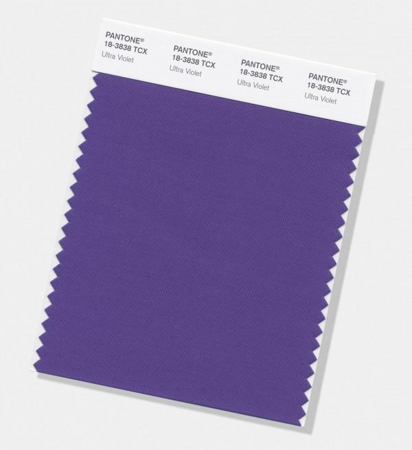 彩通2018年度代表色是紫色系的「紫外光(Ultra Violet)」。(美聯社)