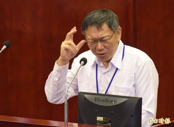 台北市長柯文哲大罵「恐龍法官」。(資料照,記者劉信德攝)