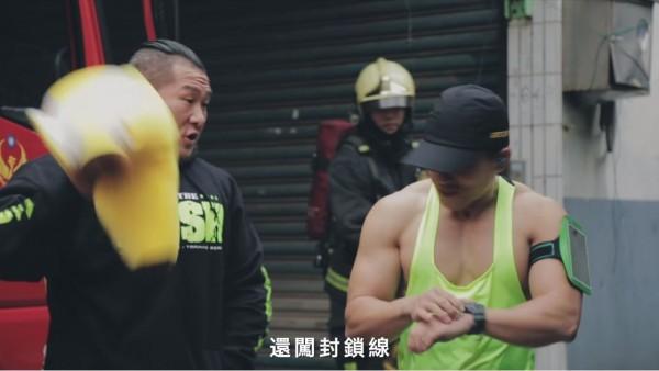 新北市消防局與「館長」陳之漢合作拍攝公益消防影片,雙方今天都在臉書分享宣導影片,引發網友熱議。(圖擷自臉書)