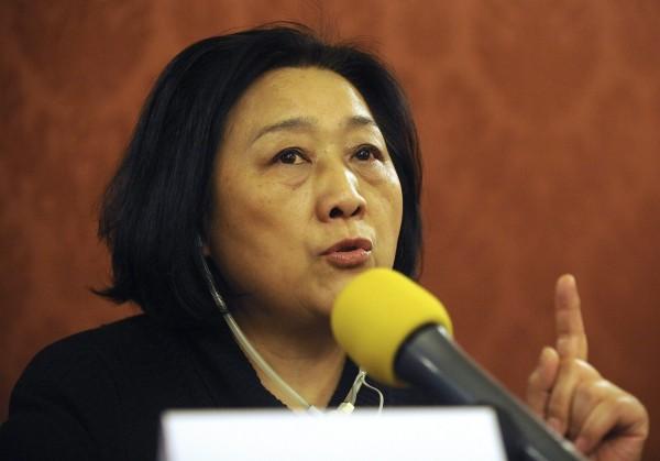 自1994年起三度被捕的資深記者高瑜,在2014年因唯一的兒子安全受威脅,被迫上中國官媒央視「電視悔罪」,當時曾激發外界公開批評。(歐新社)