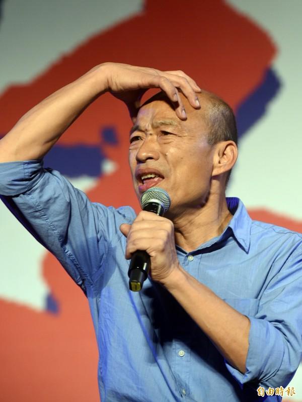 韓國瑜霸氣地說:「人民才是『政黨的爸爸』」,所有政黨、政府絕對不要忘記,民主最原始的精神,就是:「人民作主」。(記者張忠義攝)