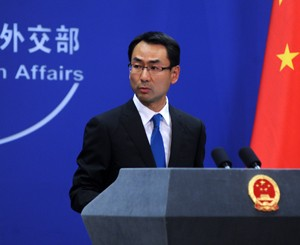 中國外交部發言人耿爽要求波札那作出正確決定。(圖取自中國外交部)