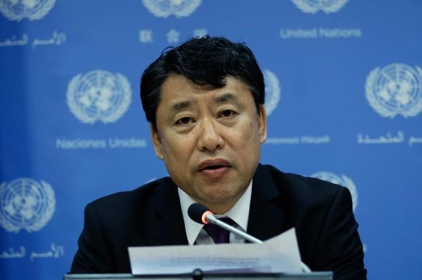 北韓駐聯合國副大使金仁龍表示,美國必須收回敵對政策,雙方才有對談的可能。(法新社)