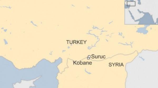 爆炸地點位於土耳其與敘利亞邊界。(圖擷自WSJ)