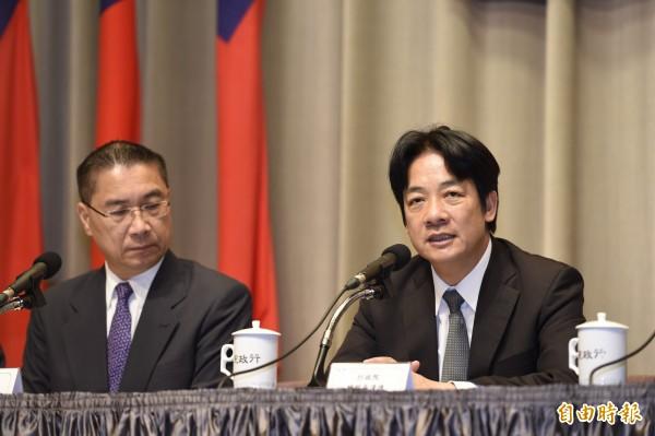 行政院長賴清德今首度與民進黨立委進行便當會。(記者叢昌瑾攝)